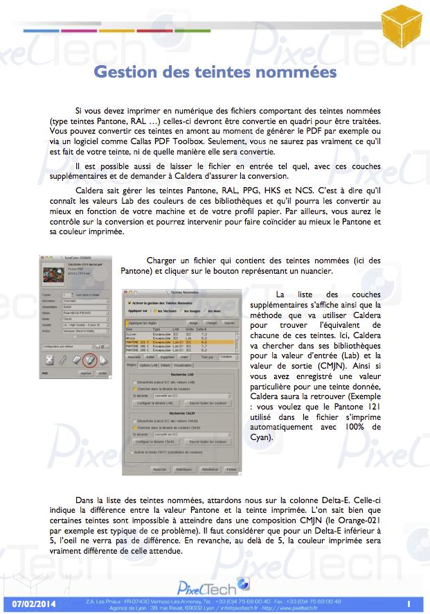 Tuto Gerer Les Teintes Nommees Dans Caldera Pixel Tech News