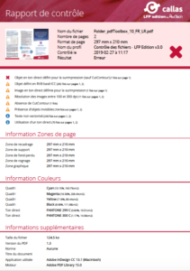 Nouveau rapport de contrôle Callas LFP Edition by PixelTech